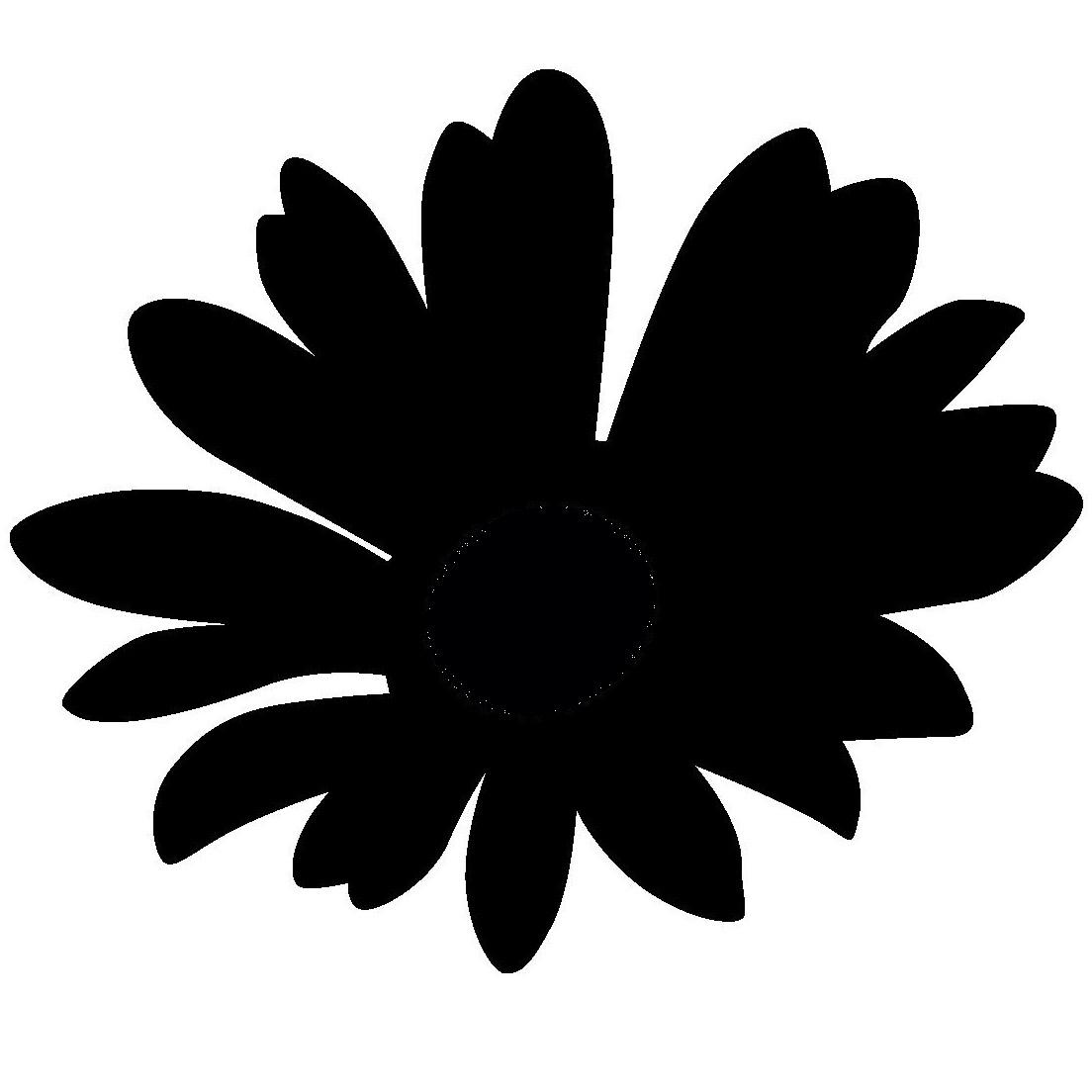 花のシルエット