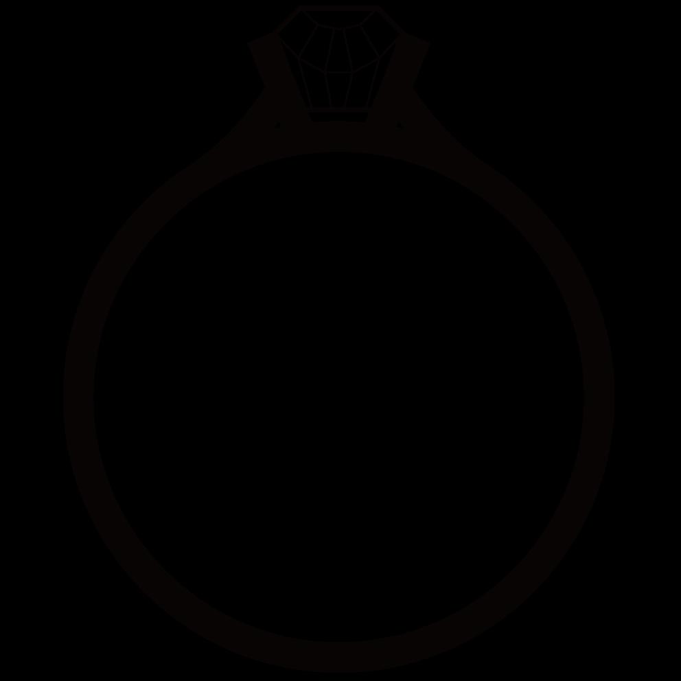 婚約指輪のシルエット